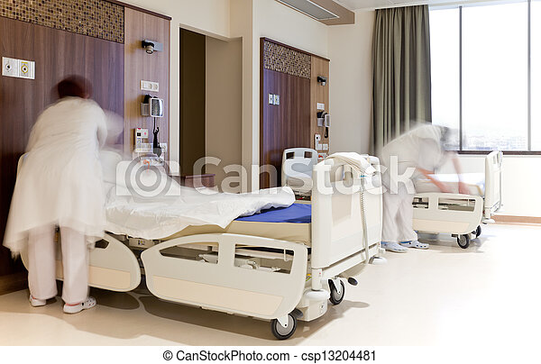 fixing hospital beds room - csp13204481