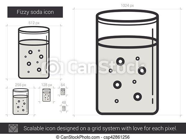 Fizzy soda line icon. - csp42861256