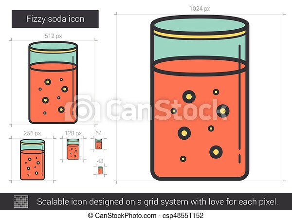 Fizzy soda line icon. - csp48551152
