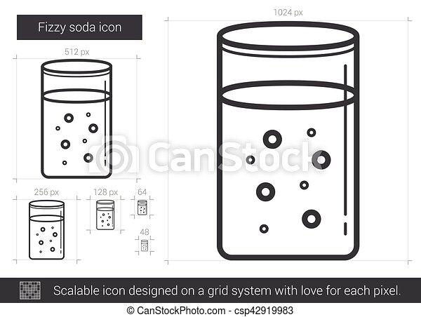 Fizzy soda line icon. - csp42919983