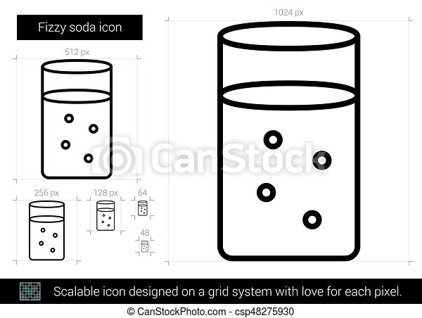 Fizzy soda line icon. - csp48275930
