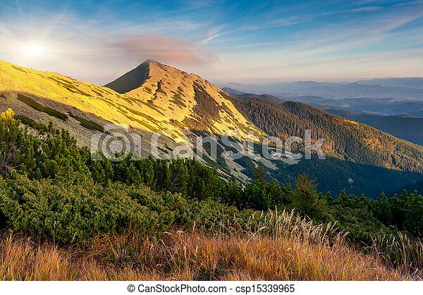 fjäll landskap - csp15339965
