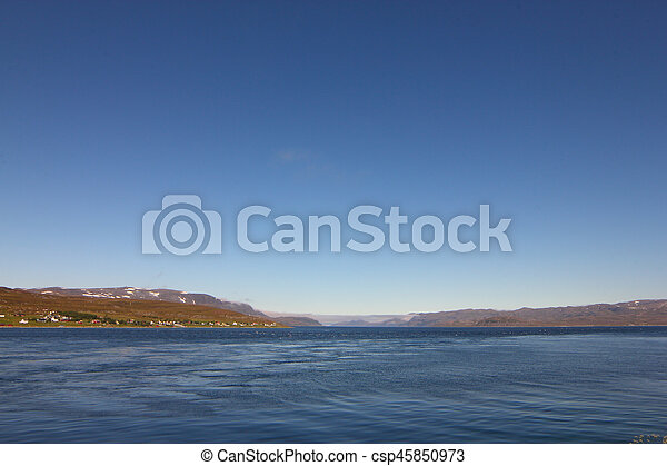 Fjord in Norway - csp45850973
