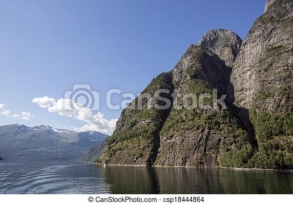 Fjord in Norway - csp18444864