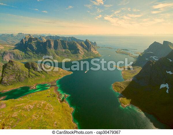 Fjord in Norway - csp30479367