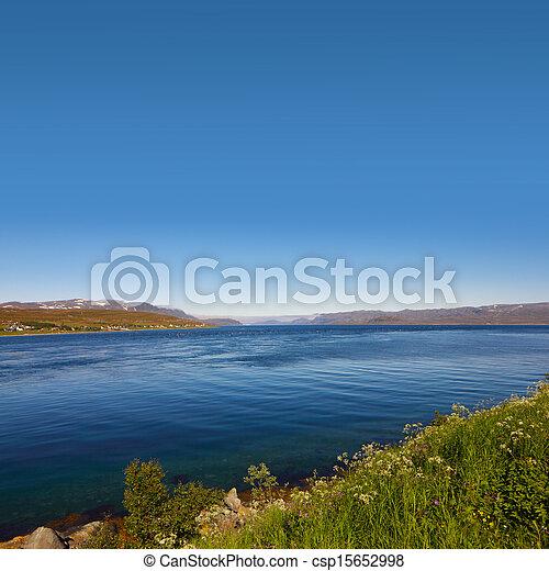 Fjord in Norway - csp15652998