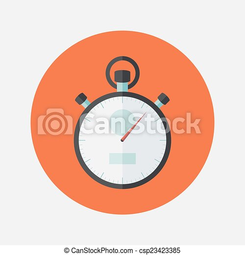 Fkat stopwatch icon over red - csp23423385