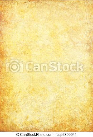 fläckat, papper, gammal - csp5309041