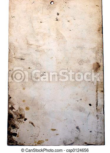 fläckat, papper, gammal - csp0124656
