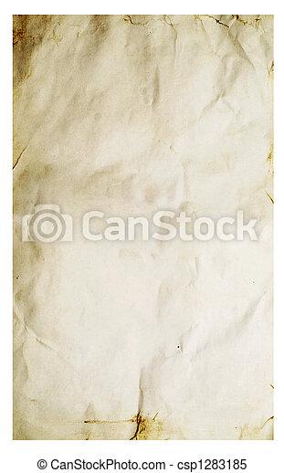 fläckat, papper, gammal - csp1283185