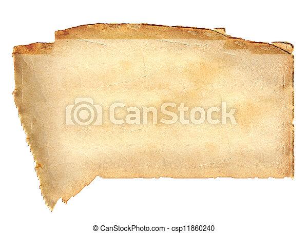 fläckat, papper, gammal - csp11860240