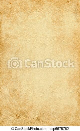 fläckat, papper, gammal - csp6675762