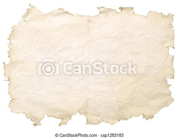 fläckat, papper, gammal - csp1283183