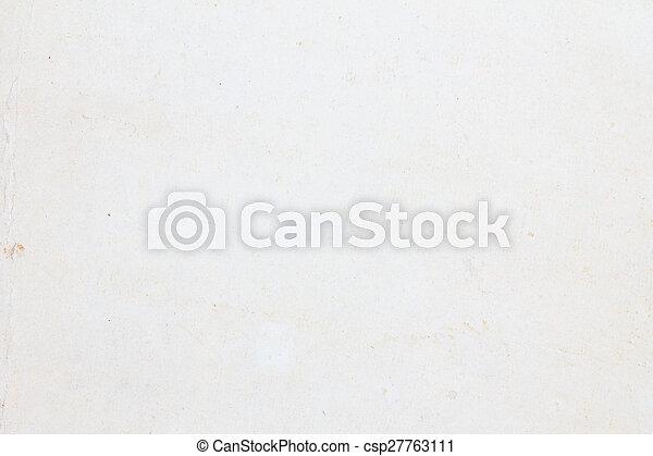 fläckat, papper, gammal, struktur - csp27763111