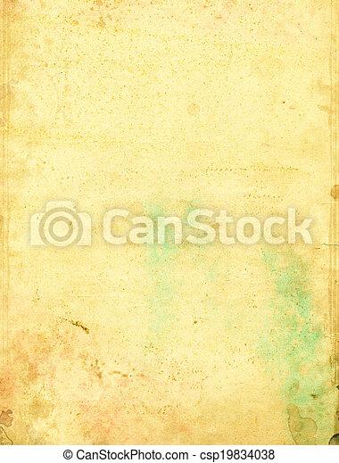 fläckat, papper, grön - csp19834038