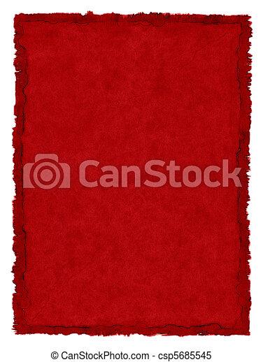 fläckat, papper, röd - csp5685545
