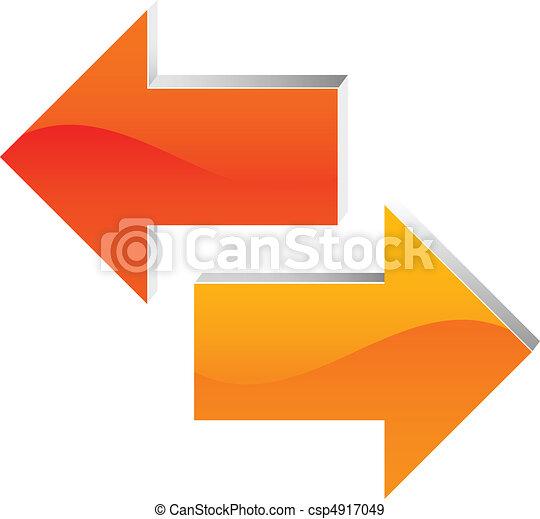 flèche droite, gauche - csp4917049
