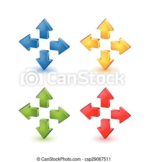 flèches, coloré - csp29067511