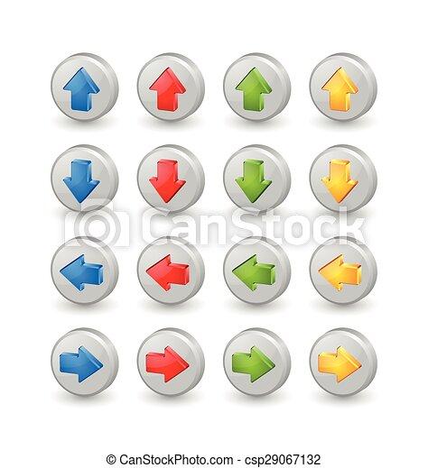 flèches, coloré - csp29067132