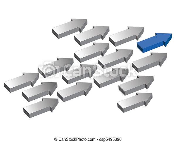 flèches, direction - csp5495398