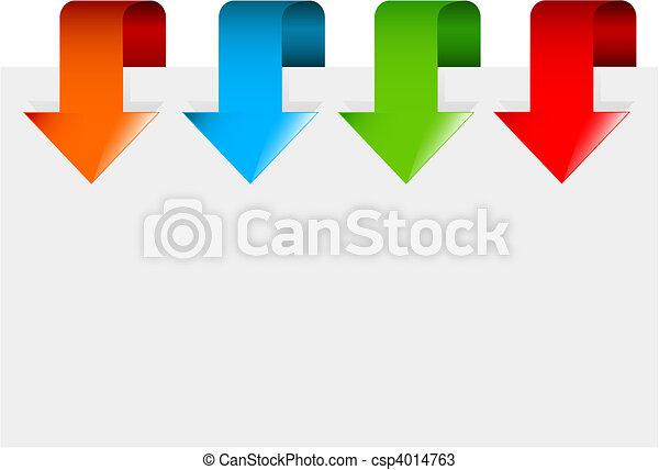 flèches, ensemble, coloré - csp4014763