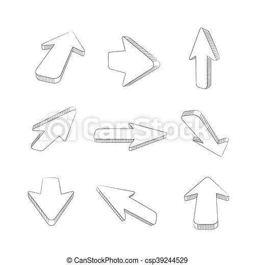 flèches - csp39244529