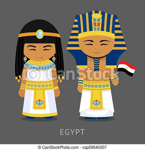 flag., 国民の 服, エジプト人 - csp59540307