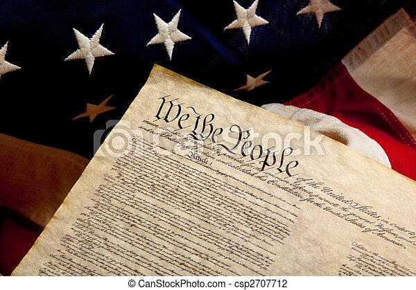 flag, amerikaner, uafhængighed, erklæring - csp2707712