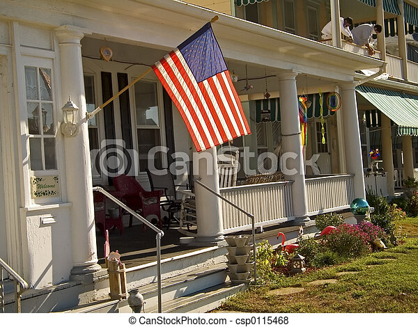 Flag and Porch - csp0115468