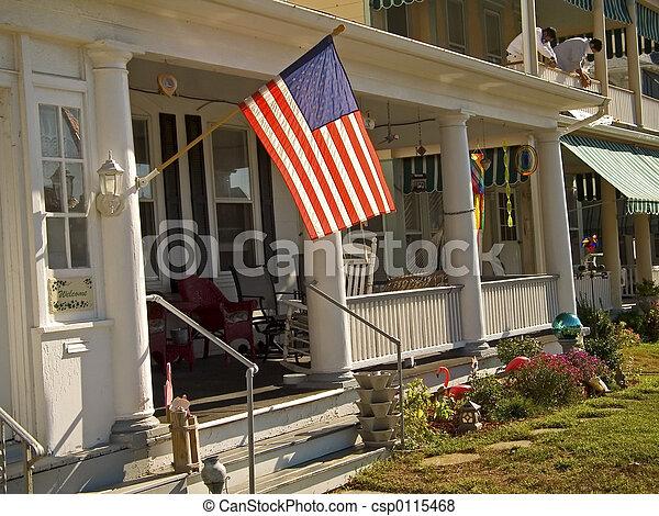 Flag and Porch - csp0115468
