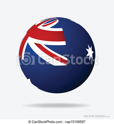 flag., australia, vettore, illustration. - csp15106597