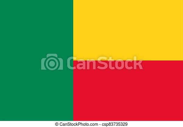 flag Benin. Vector illustration - csp83735329