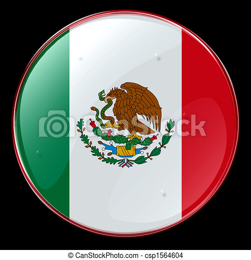 Mexico Flag Button Stock Illustration Images 757 Mexico Flag Button