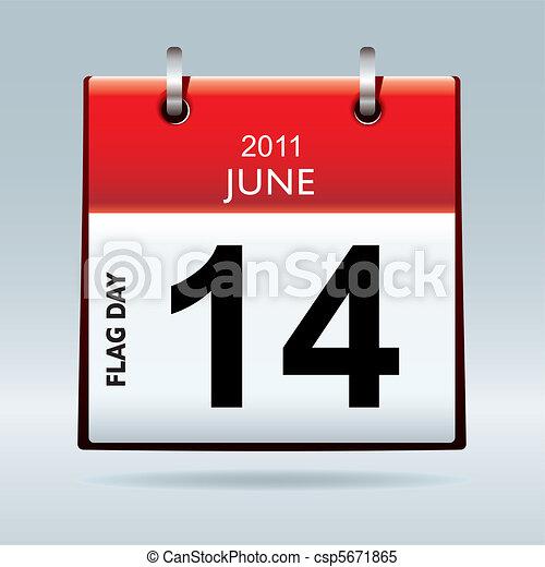 flag day calendar - csp5671865