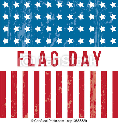 flag day background united states vector illustration rh canstockphoto com flag day 2015 clipart flag day clipart 2017