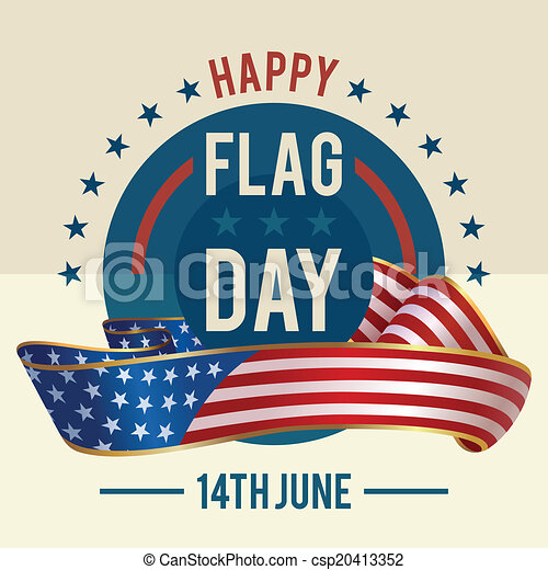 flag day of united states greeting card 14th of june american rh canstockphoto com flag day 2016 clipart flag day clipart free
