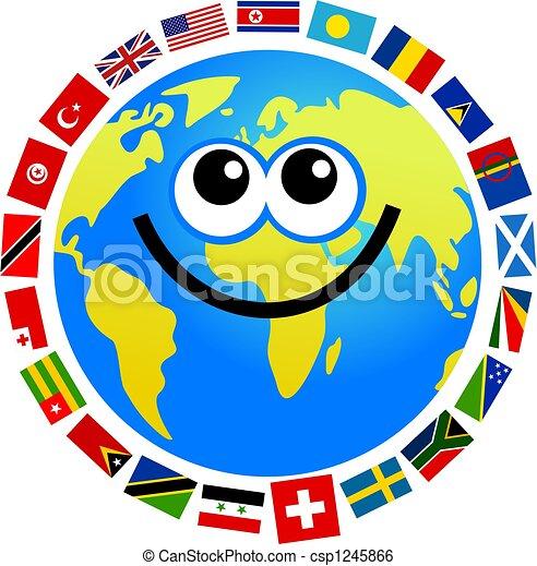 cartoon world flag globe stock illustration search clip art rh canstockphoto com cartoon flash cartoon flashcards