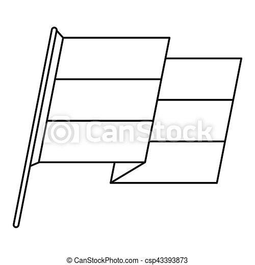 Flag icon, outline style - csp43393873