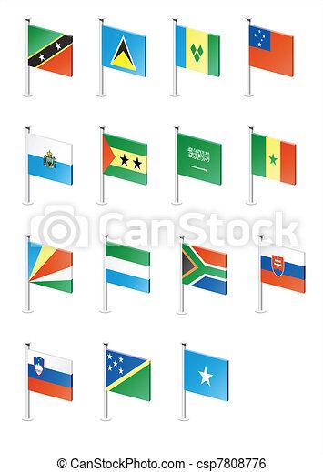 Flag icon set (part 10) - csp7808776