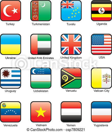 Flag icon set (part 12) - csp7809221