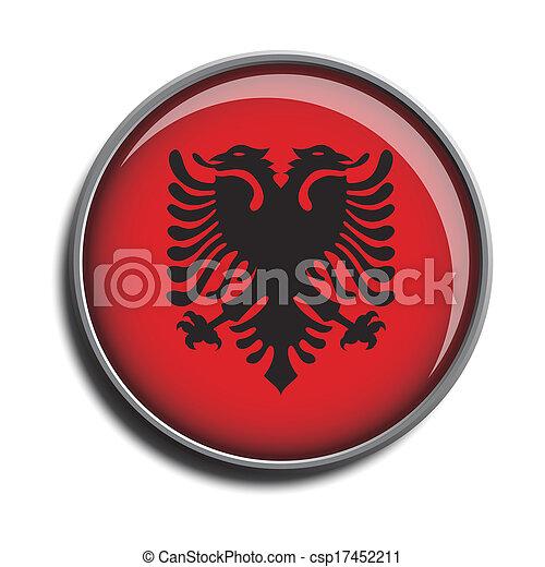 flag icon web button albania - csp17452211