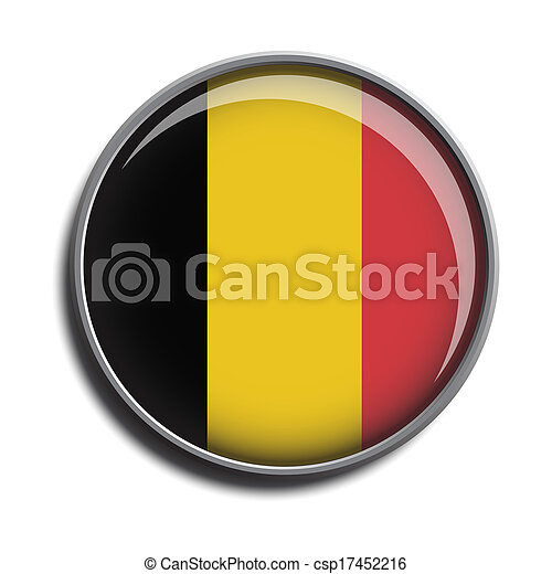 flag icon web button belgium - csp17452216