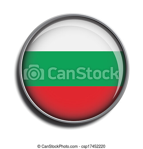 flag icon web button bulgary - csp17452220