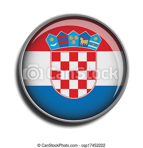 flag icon web button croatia - csp17452222