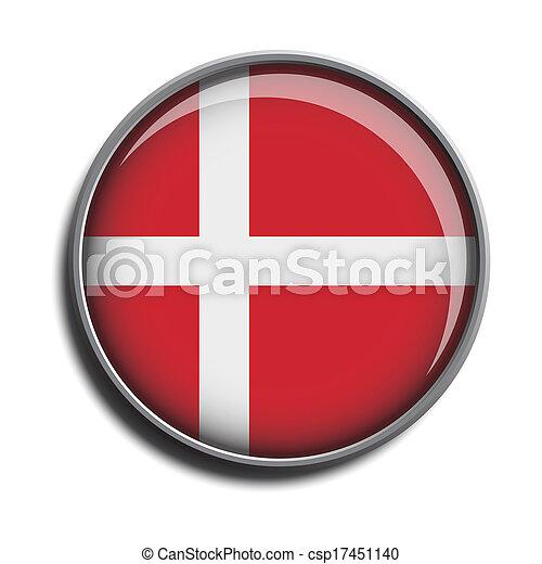 flag icon web button denmark - csp17451140
