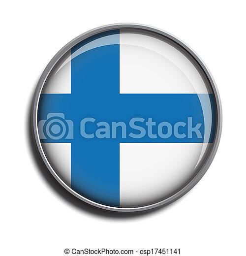 flag icon web button finland - csp17451141