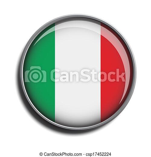flag icon web button italy - csp17452224