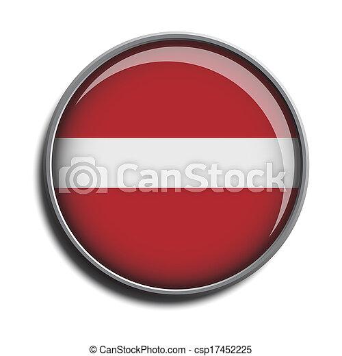 flag icon web button latvia - csp17452225