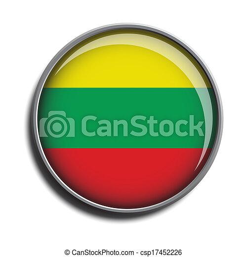 flag icon web button lithuania - csp17452226