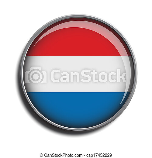 flag icon web button netherlands - csp17452229